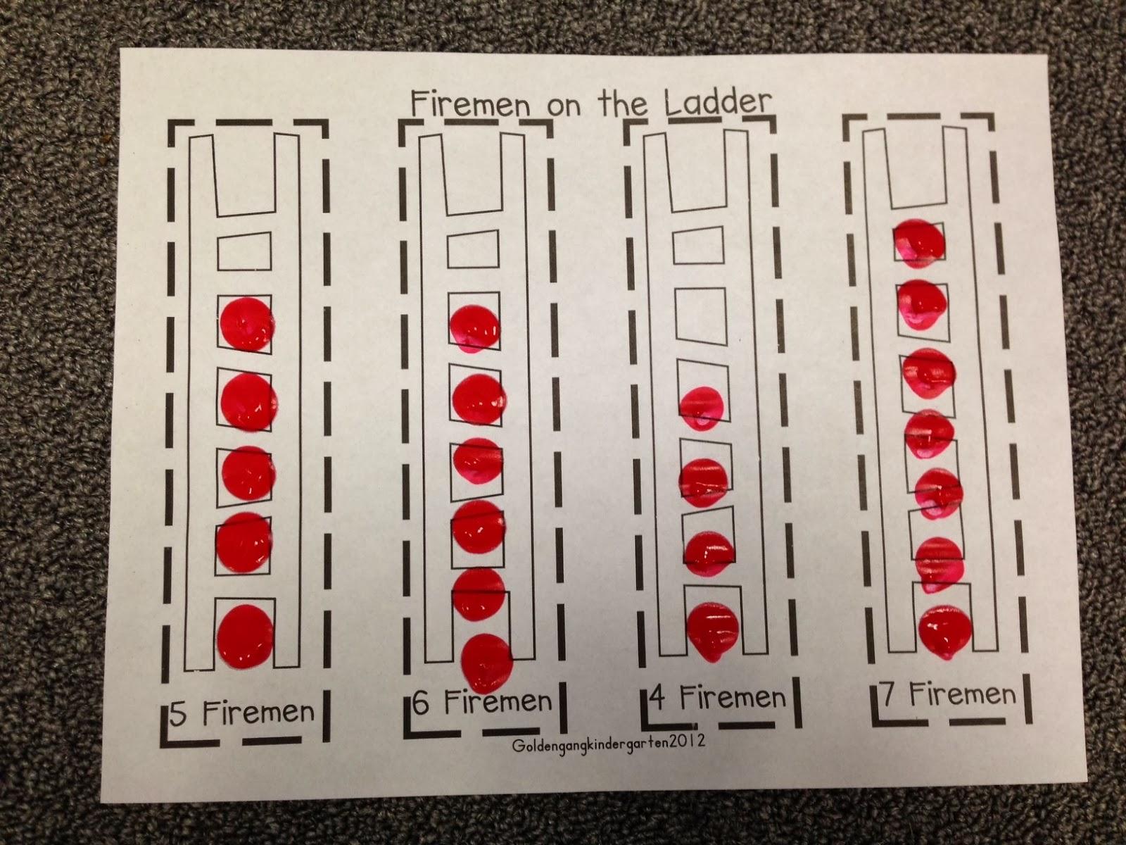 Chalk Talk A Kindergarten Blog Firefighter Math Activities