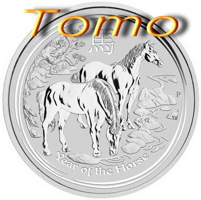 Lunarna serija 2 II srebro 999 srebrnik 2014 konj Horse Lunar silver 1 oz 1 unča unčni srebrnik konj