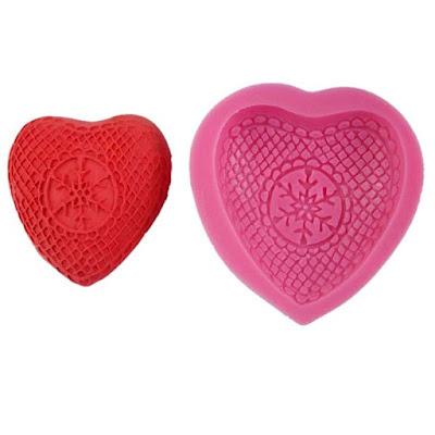 silicona galletas corazón