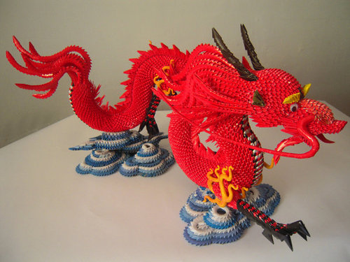 PaperCraft: 3d Origami Dragon With Stand