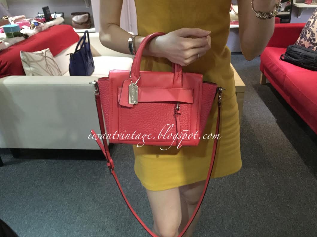 29e313dba2 ... france coach 27923 bleecker mini riley carryall in leather love red  a9310 8523d