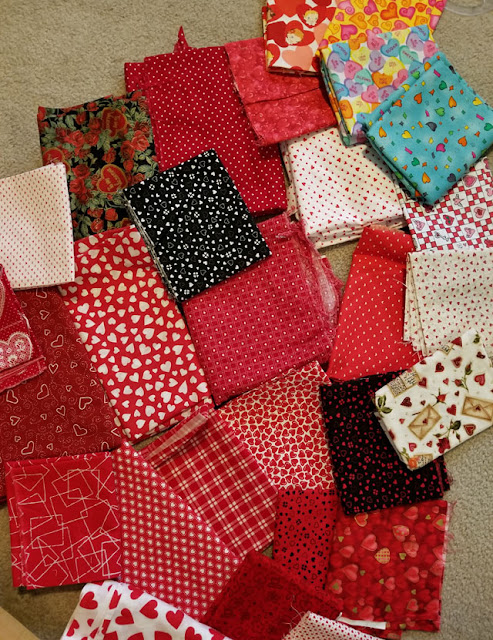 valentine heart fabric for quilting