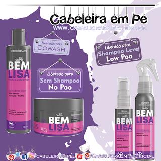Produtos da Linha Bem Lisa - Condicionador e Máscara (No Poo) Selagem e Sérum (Low Poo) - Griffus