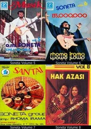 Daftar lagu dalam album Soneta Volume 5,6,7,8