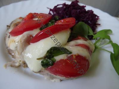 Filety z kurczaka zapiekane z serem mozzarella