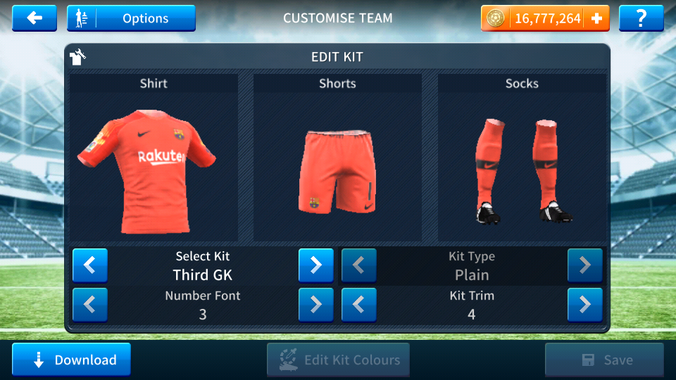 Fc Barcelona 2018-2019 Logo And Kits For Dream League Soccer