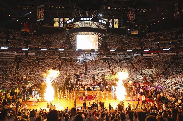 Como são os jogos da NBA em Miami