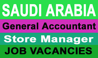 Saudi Arabia Accountant Storer Manager Jobs