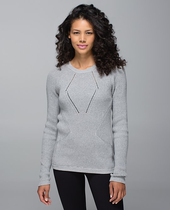lululemon heathered medium gray sweater the better