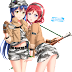 Tags: Render, Blue Hair, Long hair, Love Live!, Nishikino Maki, Red hair, Short hair, Shorts, Skirt, Sonoda Umi
