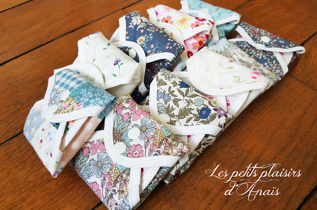 Hannahpad serviettes lavables motifs couleurs
