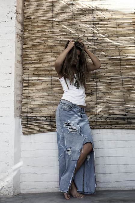 annelies design, webbutik, jean, jeanskjol, lång jeanskjol, sixty days, denim, scorpion, fashion, mode, kläder, sommar,