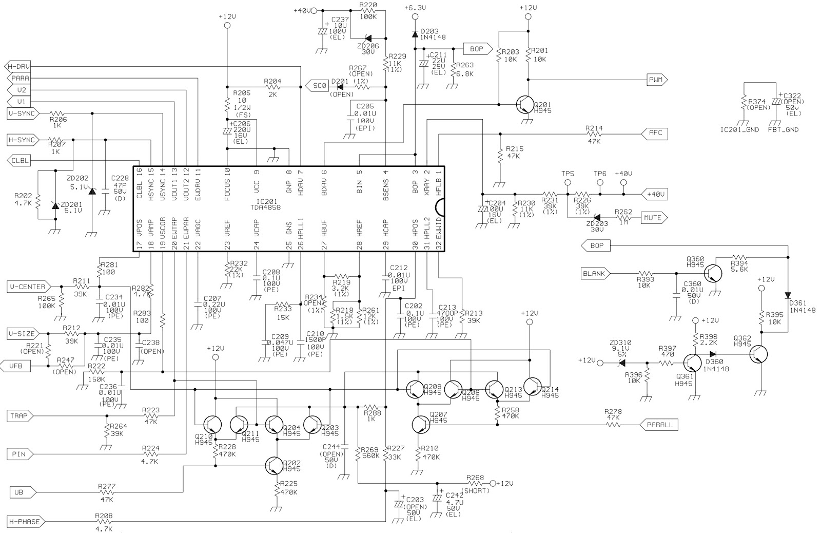 working of crt monitor with diagram autopage rf 425 wiring hp d2825 acer 7254 circuit full