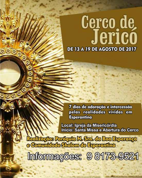 Cerco de Jericó 2017 na Paróquia Nossa Senhora da Boa Esperança