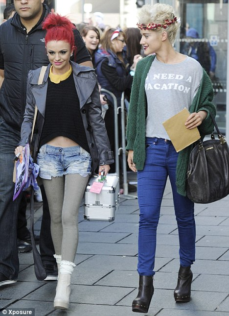 Cher Lloyd Looks Thinner Than Ever While Katie Waissel Needs A Vacation As They Continue The X Factor Tour In Manchester Today
