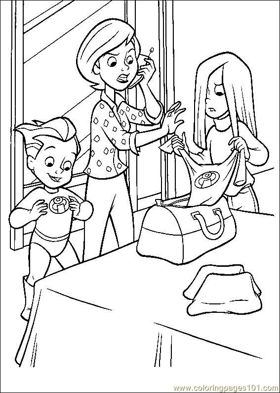 incredibles coloring pages Free