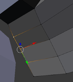Selecting the three vertices.