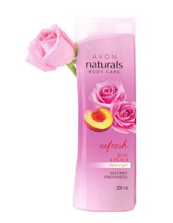AVON Naturals Rose and Peach Whitening Shower Gel_ MRP 249