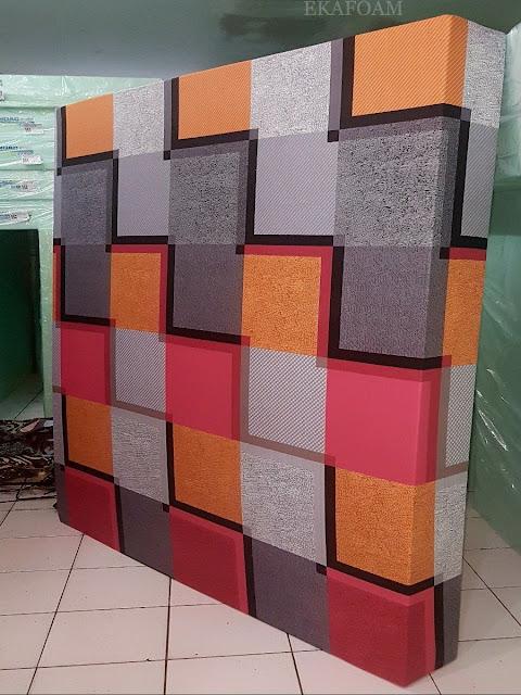 Kasur inoac motif minimalis kavali orange