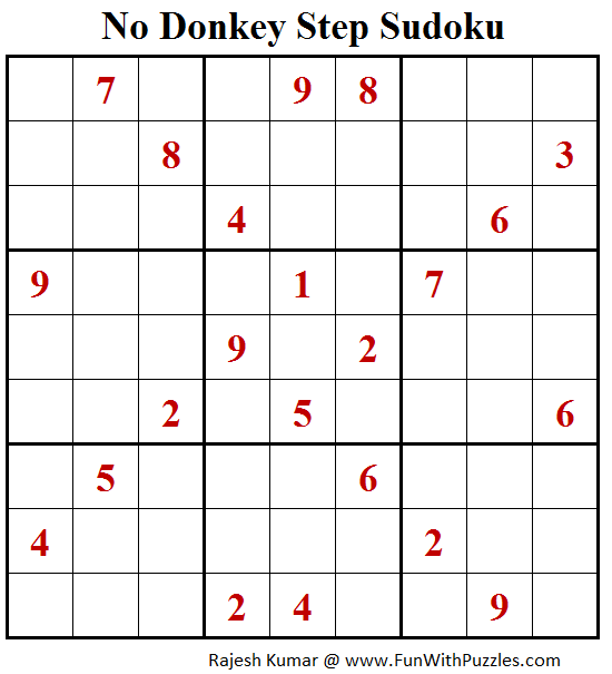 No Donkey Step Sudoku (Fun With Sudoku #182)