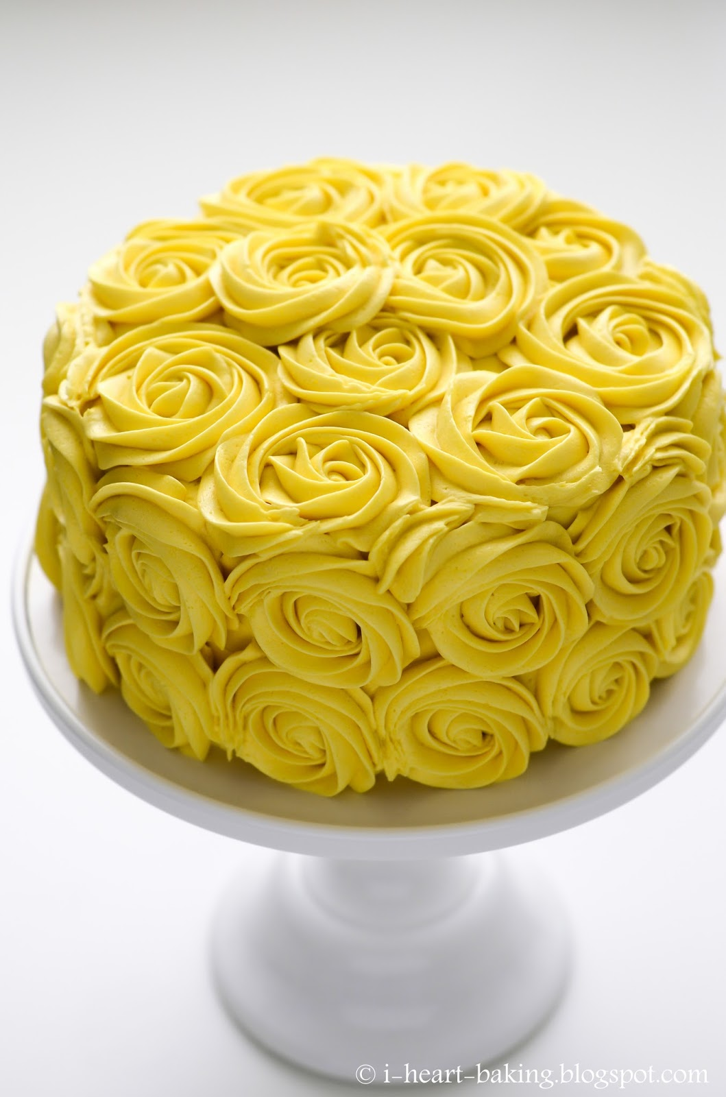 I heart baking yellow roses birthday cake happy birthday to your mom renee i hope she enjoyed her yellow roses this year dhlflorist Images