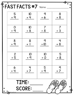 Math facts timed practice