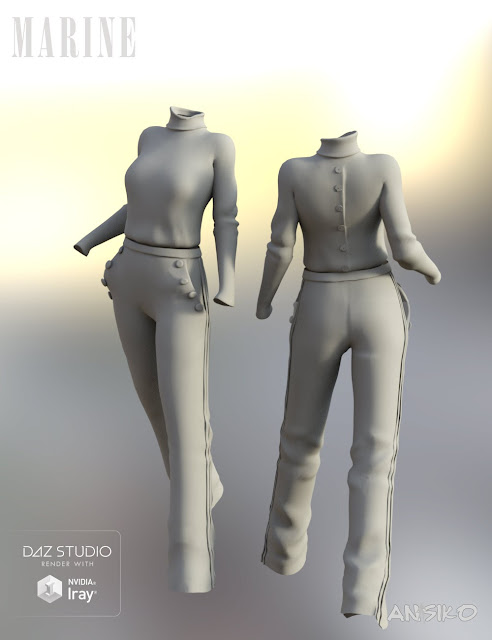 Marine Outfit for Genesis 3 Female