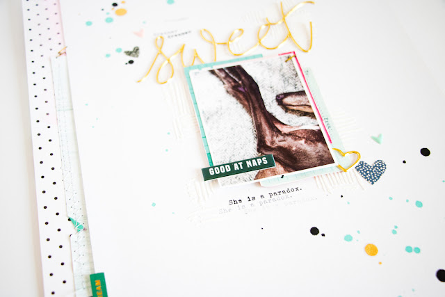 Sweet by ScatteredConfetti. // #scrapbooking #citrustwistkits