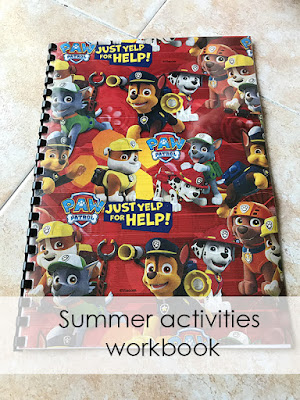 DIY Summer activities workbook