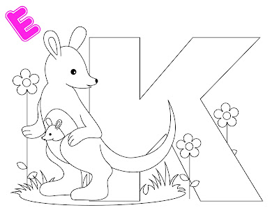 Free Kindergarten Alphabet Letter K Coloring Worksheet