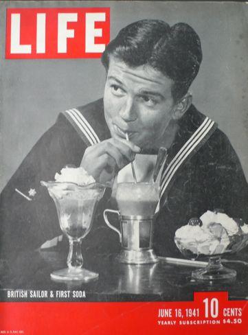 """British Sailor A First Soda,"" Life magazine, 16 June 1941 worldwartwo.filminspector.com"