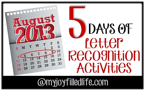 5 days of letter recognition activities abc bingo my joy filled life. Black Bedroom Furniture Sets. Home Design Ideas