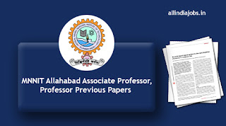MNNIT Allahabad Associate Professor Previous Papers