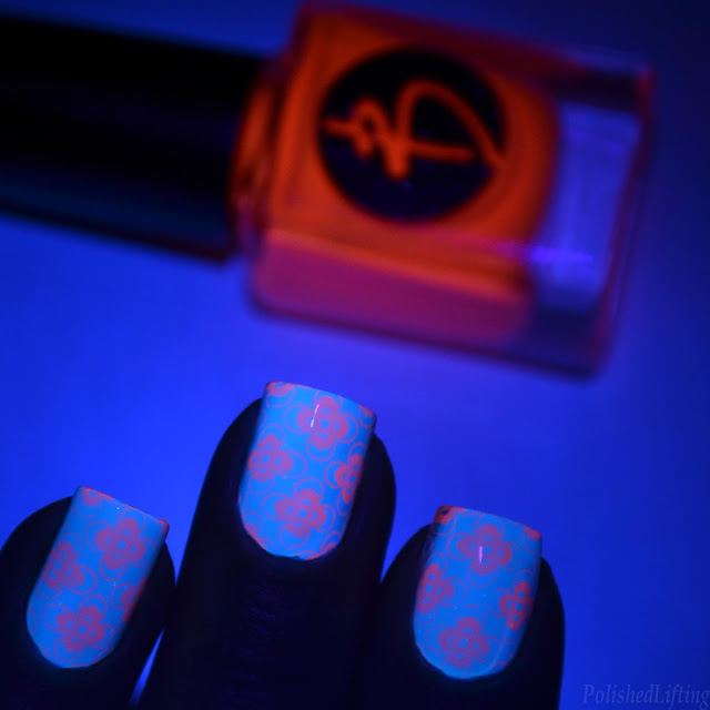 blacklight nail art swatch