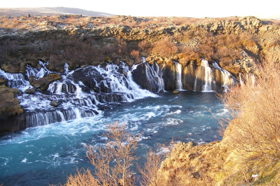 Hraunfossar, Islanda