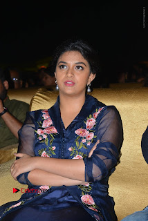 Actress Keerthi Suresh Stills in Blue Long Dress at Nenu Local Audio Launch  0045.JPG