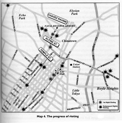 The Progress of Rioting, 1943 Published in Eduardo Pagan, Murder at the Sleepy Lagoon: Zoot Suits, Race, and Riot in Wartime L.A. (Chapel Hill: University of North Carolina Press, 2003)