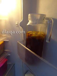 dinginkan dalam lemari pendingin (kulkas)