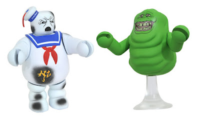 San Diego Comic-Con 2017 Exclusive Ghostbusters Glow in the Dark Slimer & Battle Damaged Stay Puft Marshmallow Man Vinimates by Diamond Select Toys