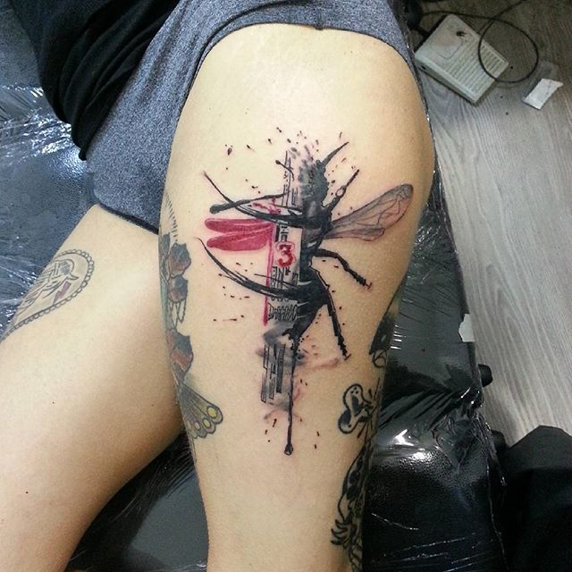 %2B-Ant%2B%25287%2529 Top 10 Tattoo Big Ant On Outer Thighs tattoo