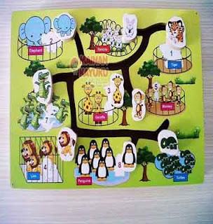 Gambar Maze Hewan Mainan Edukatif