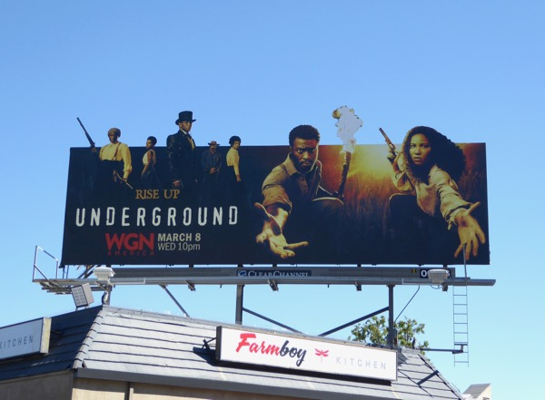 Underground season 2 cut-out extension billboard