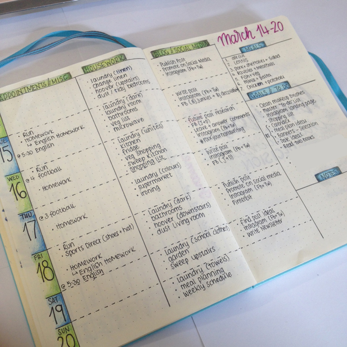 Weekly Spread Ideas for Bullet Journals - christina77star
