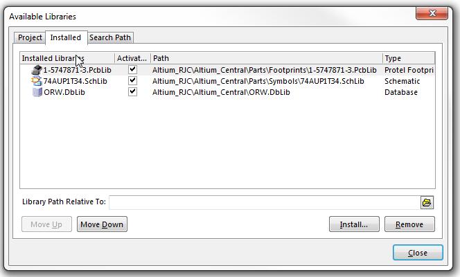 Altium PCB Designer: Libraries Panel - Missing Symbols Fixed