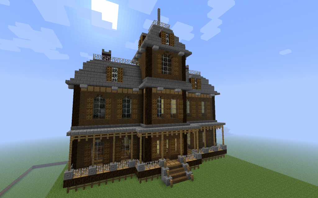 Cool things to build in minecraft halloween special for What makes a house a mansion