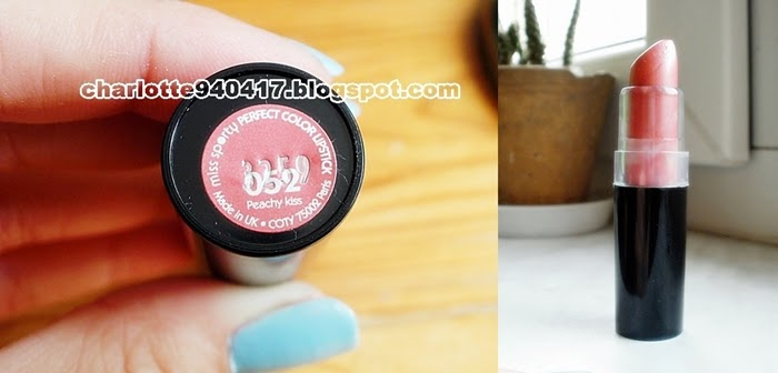 Miss Sporty, Perfect Colour Lipstick, Supertrwała szminka do ust, Peachy Kiss, 052 Miss Sporty, 052