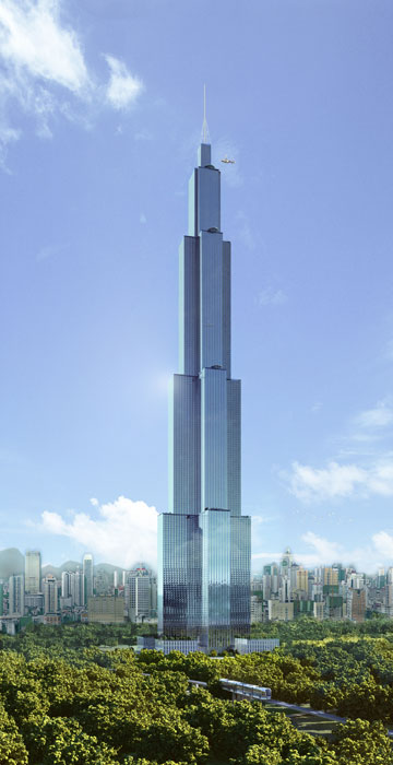 Photo of new world's tallest building, Sky City, located in China
