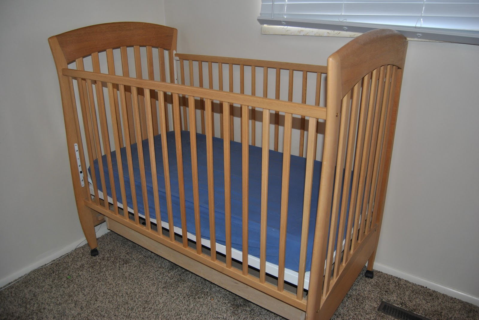 Our Moving Sale: Baby Oak Crib - $60 SOLD
