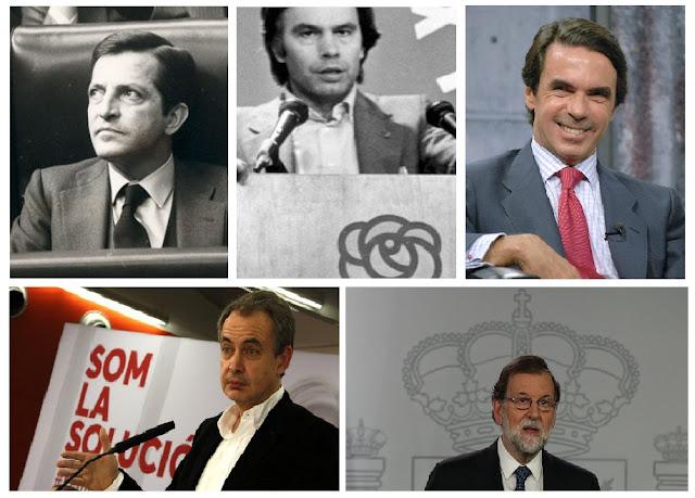 Cataluña independiente - Adolfo Suárez, Felipe González, José María Aznar, Zapatero y Mariano Rajoy, los responsables de esta ruina que llamamos España - 3% - ETA - GAL - Podemos - Educación - Medios de Comunicación - el troblogdita