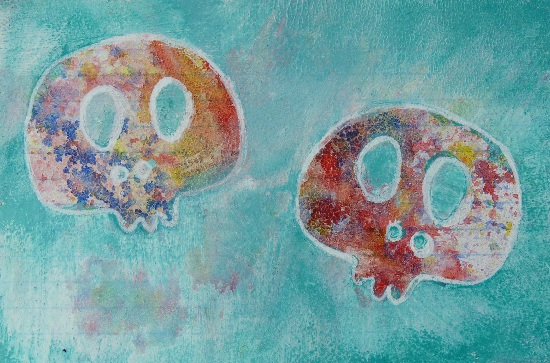 Whoopidooings: Carmen Wing: ICAD Index Card A Day 2013: Day 7 - Skullies